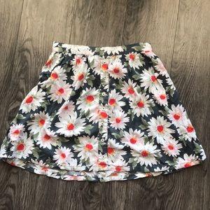 Floral button up skirt Hollister